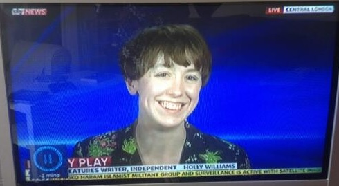 Holly on Sky News